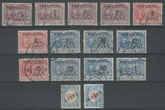 The Netherlands 1906/1907 – Selection of postage stamps – NVPH P31/P43 + P27III/P28III