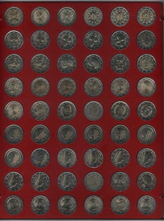 Europa – 54 x 2 Euro circulation coins Europa from  2000 – 2014 in Lindner box