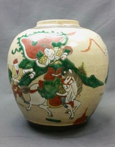 Large Nankingware ginger jar - China - circa 1900