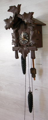 Antique cuckoo clock – West Germany – Early 1900s