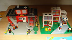 Classic Town - 6382 + 6380 - Fire Station + Emergency Treatment Center