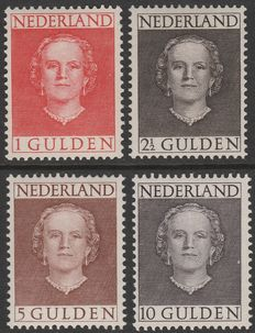 "The Netherlands 1949 – Queen Juliana ""Face forward"" – NVPH 534/537"