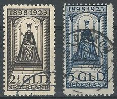 The Netherlands 1923 – Queen's jubilee – NVPH 130 + 131