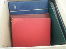 World – Batch of stamps and letters in stock books, album, cards, starting from classic.