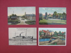 The Netherlands-109 cards of old city views and landscapes.