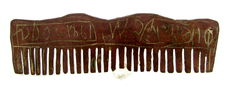Viking bronze Hair Comb decorated with Runic Symbols / Script - 83mm