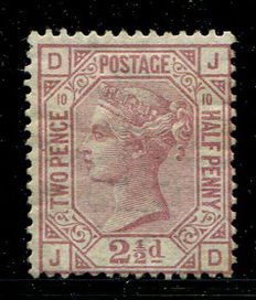 Groot-Brittannië 1867/1880 - Koningin Victoria - 2,5 pence rosy-mauve Stanley Gibbons 141 plate 10