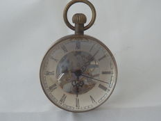 Glass watch, with visible movement.