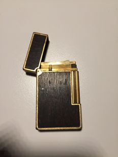 S.T. Lighter Wooden and Gold Plated Dupont