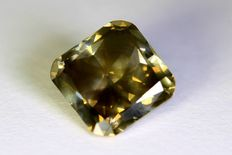 Diamant - 1.49 ct Fancy Dark Gray - SI1 Low reserveprice