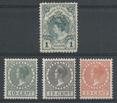 Netherlands 1898/1924 – Crowning stampa and exhibition stamps – NVPH 49 + 136/138