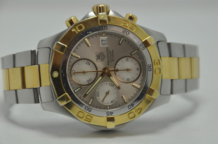 e8714eb4d77bb TAG Heuer Aquaracer Chronograph Gold/Steel Automatic Ref. CAF2120 - Men's  Watch