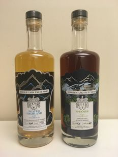 2 bottles - Creative Whisky Company Single Cask Exclusives - Ardmore and Glentauchers