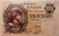 Spain - 1,000 pesetas 1940. No serial - Pick 125