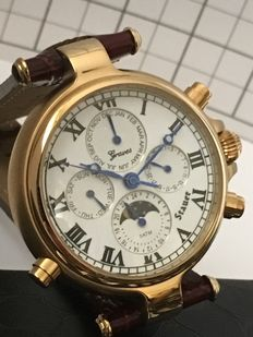 "Stauer's Historical Repro ""Limited Edition Stauer Graves '33"" - men's dresswatch - 2016 -- unworn, mint condition."