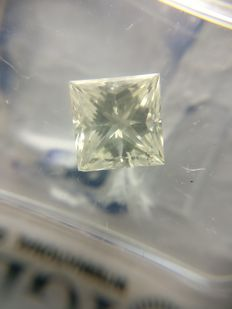 1.15 ct Princess cut diamond H SI2