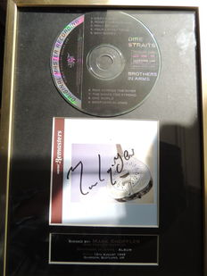 Dire Staits - Mark Knopfler - Brothers In Arms- Signed Autograph(in print) Cd With Cover - Beautiful