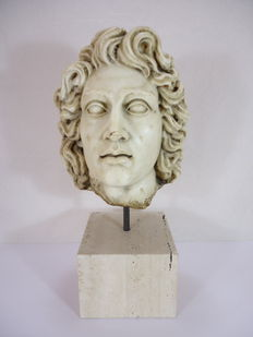 Marble head of Alexander the Great - Italy - 17th/18th century