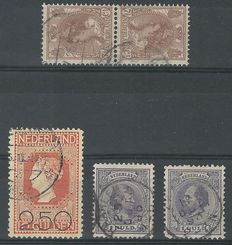 The Netherlands 1872/1921 – Willem III, Wilhelmina, Tête-bêche and Clearance – NVPH 28, 44, 61b, 105