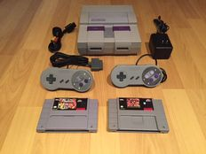 Snes Console Set NTSC, fully Complete with 2 Controllers and Games