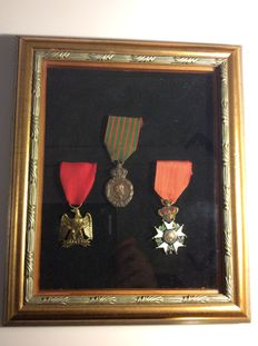 Frame with French medals