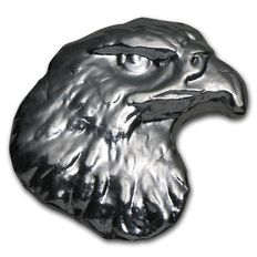 United States - 1 oz 999 Silver Bullion Eagle Head Atlantis Mint United States - hand-cast- unique