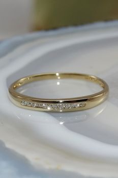 Elegante Ring met 12 Diamanten