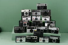 Collection of 19 pocket cameras of the brand Kodak, 1960s