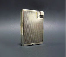 Alfred Dunhill Paris - Fab.Suisse, silver plated gasoline lighter - Art Deco early 20th century