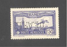 France 1930 – Airmail 1f50 blue signed Calves-Brun with certificate – Yvert No. 6c EIPA30 International Exhibition of the Air Mail