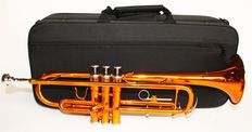 Trumpet ChS TR110PU with solid case, Bb, colour orange