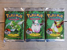 Pokemon - 3 Original Jungle boosterpacks - Dutch - 2000