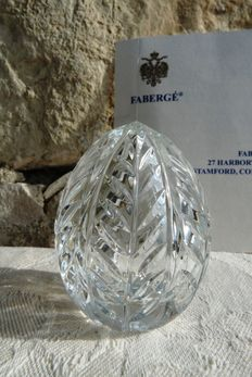 Faberge crystal - Imperial egg Collection - etched crystal - signed - numbered