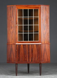 Danish Furniture Producer - Rosewood Veneer Corner Cupboard