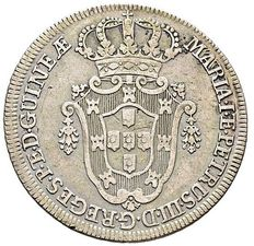Portugal - Angola - Pedro and Maria - 10 Macutas in silver - 1783