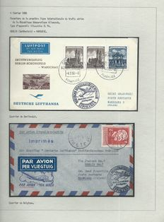 DDR 1956-1971 - Collection mounted on exhibition sheets - 'Interflug' company.