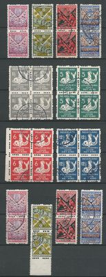 The Netherlands 1929/1933 - selection roll perforation in pairs and blocks.