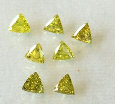 "Lot of 7 natural diamonds ct. 0.94 ""No reserve price."""