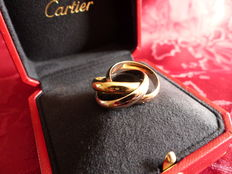 "Cartier - ""Trinity"" ring - Three 18 kt golds"