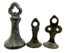 Lot of 3 Medieval Seal Matrix - Star, Perisonal Initials and Four-Leaf Clover.  - 24- 35 mm (3)
