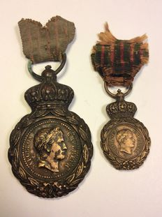 Saint Helena lot - Medal with its miniature