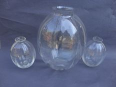 A.D. Copier (Leerdam) three vases from the H collection