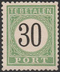 Curaçao 1889 – Port Number in black – NVPH P8 type II