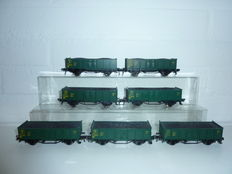Fleischmann H0 - 5207 - 7 SNCB carriages with load of coal (set 1)