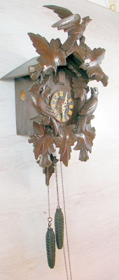 Antique cuckoo clock - West Germany - early 1900s