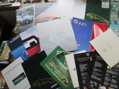 Car brochures (exclusive brands, 17x, 1983-2015) - Bentley, Jaguar, Maserati, Mercedes, Rolls-Royce, Saab