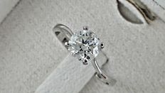 0.95 ct round diamond ring in white gold *** no reserve price ***