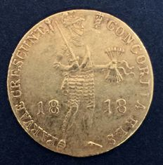 The Netherlands/Russia - ducat 1818, Saint Petersburg or Utrecht - gold