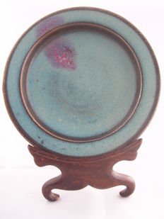 Dish with Jun pattern – China – 21st century