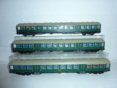 Roco H0 - 45486/45487 - 3 CFL Passenger carriages of the Luxembourg Railroads